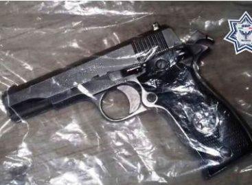 Detenido por la Policía Estatal cuando efectuaba disparos de arma de fuego al aire
