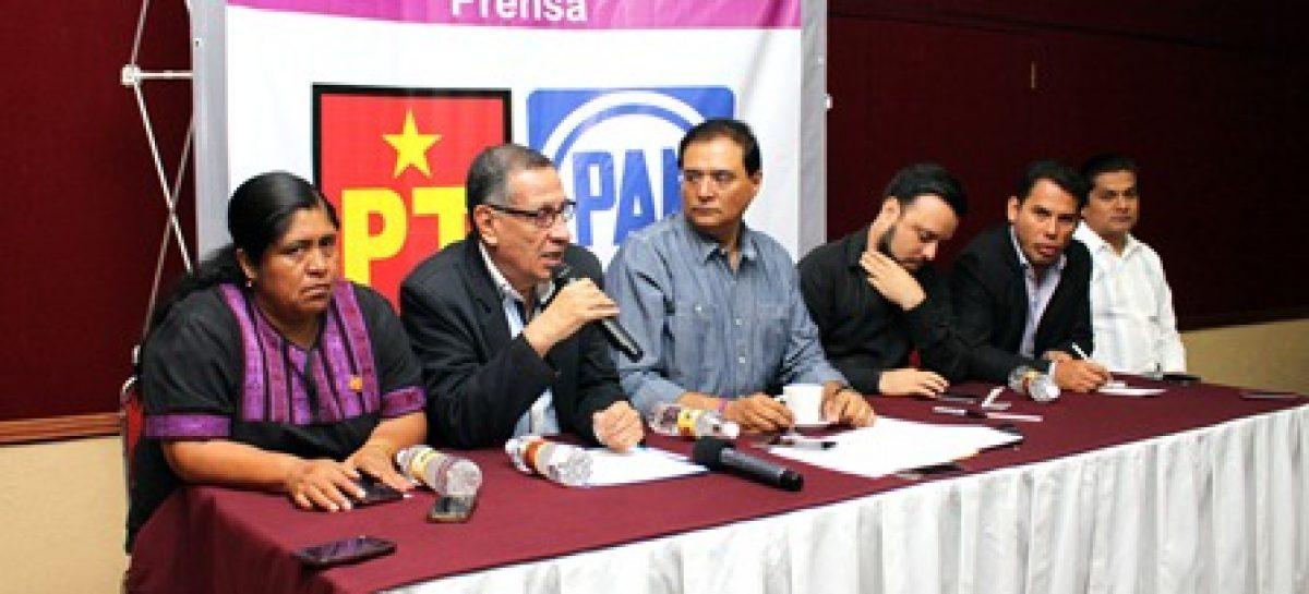 PAN y PT se unen para enfrentar al gobierno entrante de Murat