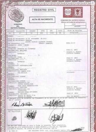 Expedir n oficinas consulares actas del registro civil for Oficinas registro civil