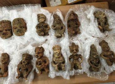 Policía Federal, con apoyo de binomios caninos, asegura aparentes piezas arqueológicas en Jalisco