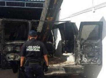 Detectan vehículo robado con aditamentos para lanzar proyectiles en la frontera de Sonora