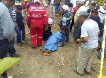 Rescatan cuerpo de persona sepultada cuando trabajaba en un pozo en Oaxaca