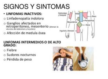 Fiebre, sudoración nocturna, pérdida de peso o cansancio, pueden ser síntomas de linfoma (cáncer)