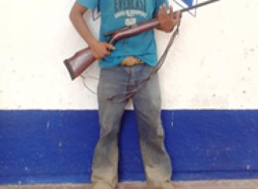 Confiscan arma de fuego y 25 cartuchos a un sujeto en la región del Istmo
