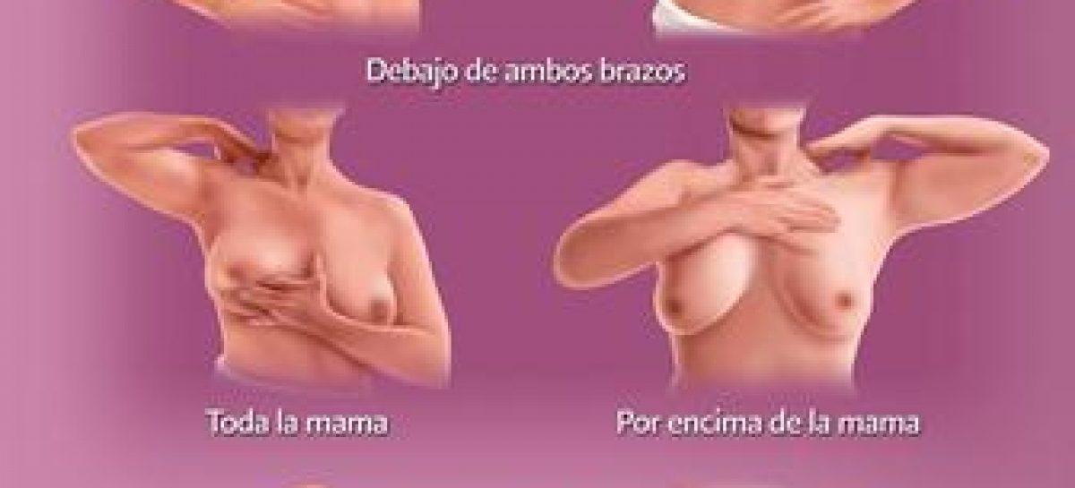 Autoexploración mamaria permite a las mujeres detectar cambios en las mamas o axilas
