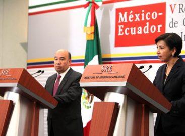 Celebran México y Ecuador V Reunión del Mecanismo de Consulta en Materias de Interés Mutuo