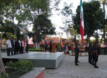 Acto conmemorativo por aniversario 36 del terremoto en Huajuapan de León, Oaxaca