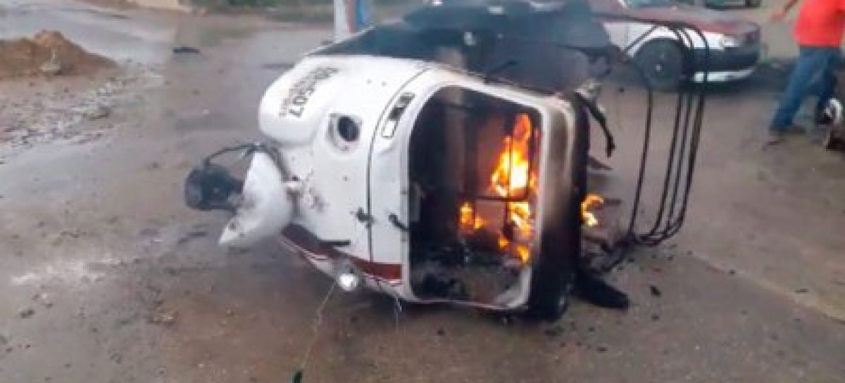 Otra vez balacera en la ciudad de Oaxaca, ahora policías y mototaxistas