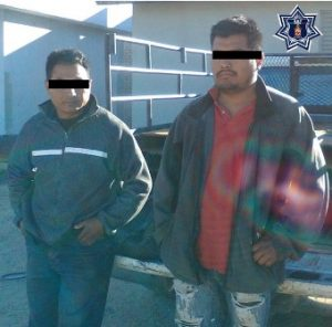 Detenidos Eugenio CL y Servando JJ, de 39 y 23 años de edad