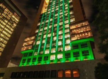 La Cancillería se ilumina de verde; celebra entrada en vigor del Acuerdo de París sobre Cambio Climático
