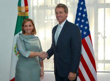 Abordan canciller mexicana y senador de EU temas relevantes de la agenda bilateral