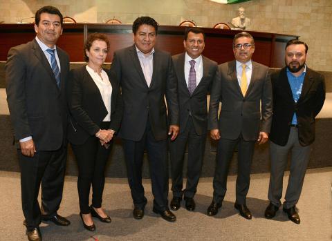 Integrantes de la Junta de Coordinación Política de la LXIII Legislatura de Oaxaca