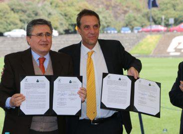 Firman CNDH y Pumas UNAM convenio para difusión y promoción de derechos humanos