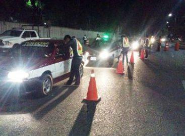 Arrestados 13 conductores durante Operativo Alcoholímetro en Oaxaca de Juárez
