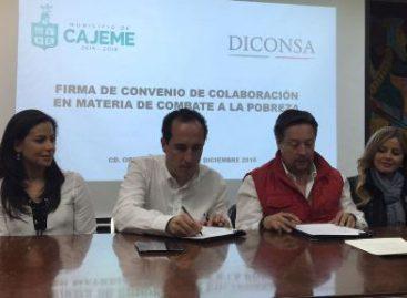 Coordinan Diconsa y Ayuntamiento de Cajeme política de seguridad alimentaria