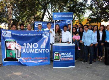 Arranca PAN-Oaxaca campaña por reducción del IEPS a gasolinas y diésel