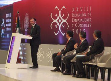 Refrenda Luis Videgaray compromiso de la Cancillería en materia de protección a Derechos Humanos