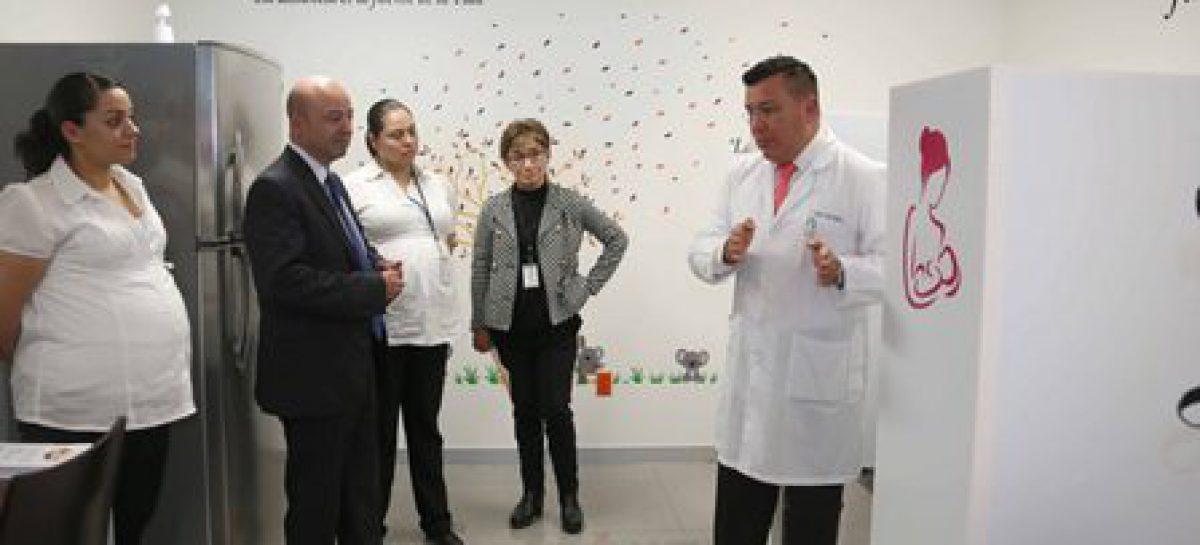 Fortalece CNS apoyo a las mujeres con la instalación de lactario