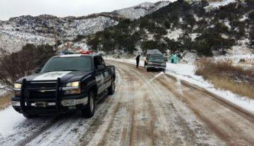 En alerta Policía Federal para apoyar a usuarios de carreteras ante nevadas en norte del país