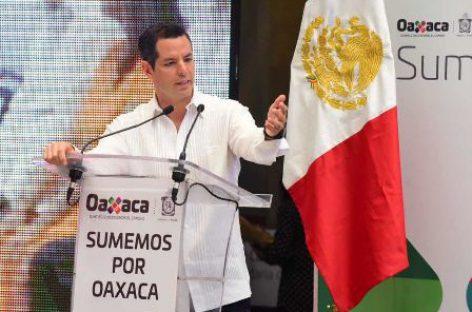 Destinarán mil mdp para fortalecer el sector empresarial de Oaxaca: Murat Hinojosa