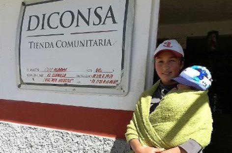 Surte Diconsa comunidades a tres mil metros de altura en el volcán Cofre de Perote