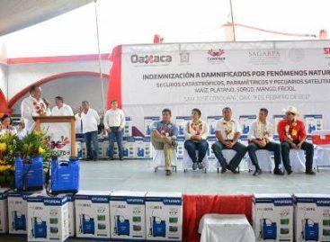 Inicia SAGARPA y Gobierno de Oaxaca Pago de Indemnización por Seguros Catastróficos