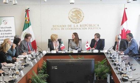 Parlamentarios de México y Canadá
