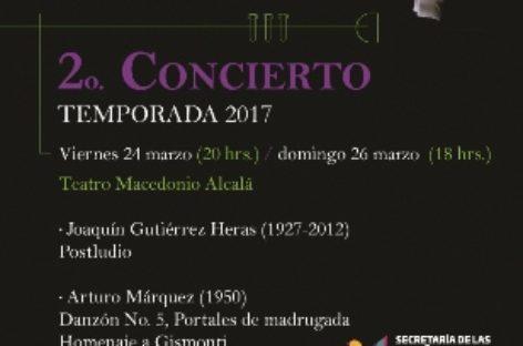 Ofrecerá Orquesta Sinfónica de Oaxaca dos conciertos este fin de semana