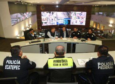 Supervisan despliegue de la Policía Federal en Ecatepec, Estado de México
