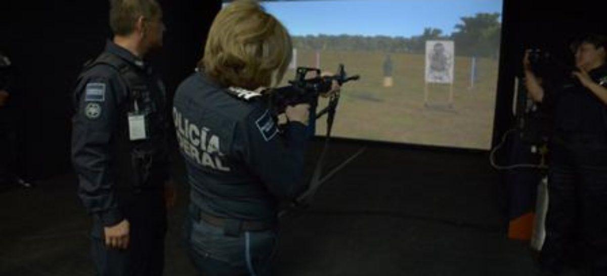 Inauguró Comisión Nacional de Seguridad aula virtual de simulación de tiro