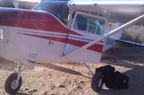 Aseguran aeronave con aparente droga en BC; Más de una tonelada de marihuana en Coahuila