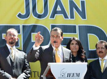 Ante el IEEM, registra PRD a Juan Zepeda como candidato a gobernador por el Estado de México