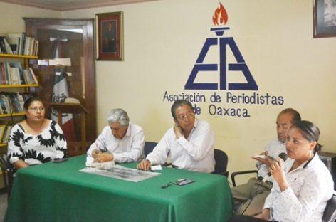 Demandan alto a la represión y crímenes contra periodistas en Oaxaca y el país