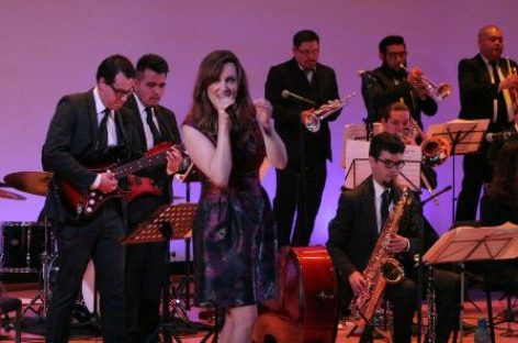 Presentaron Latin American Jazz Orchestra y Laura Dickinson repertorio inédito para México