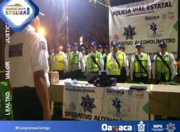 Arrestados 111 conductores en Alcoholímetro este fin de semana en Oaxaca: SSPO