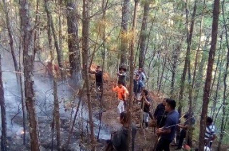 Brindan policías estatales apoyo para sofocar incendio en la Costa
