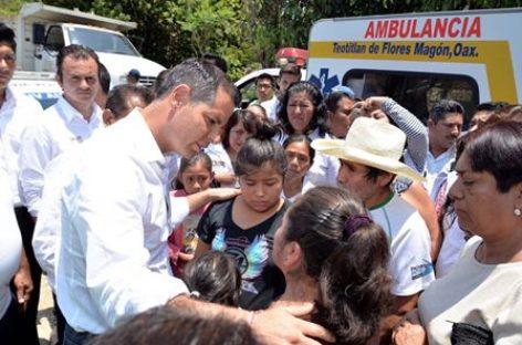 Declara Gobierno Federal zona de desastre cinco municipios de Oaxaca por lluvias: Murat Hinojosa