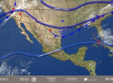 Pronostican fuertes lluvias para este domingo por sistema frontal número 41 y aire frío