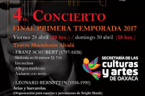 Invita SECULTA al cierre de temporada de la Orquesta Sinfónica de Oaxaca