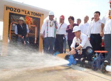 Inaugura Murat Hinojosa obras de infraestructura hidráulica en Mitla; ejercen 8.2 mdp
