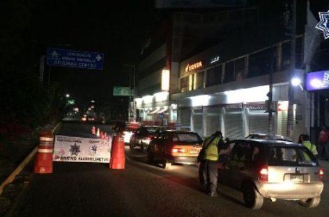 Deja Alcoholímetro 22 conductores arrestados en Valles Centrales y la Costa