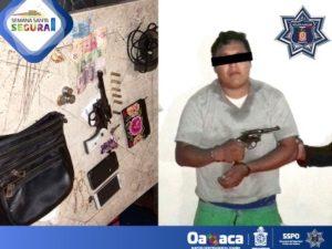 Cristian AV, de 24 años de edad, acusado de robo a mano armada a una mujer en Juchitán.
