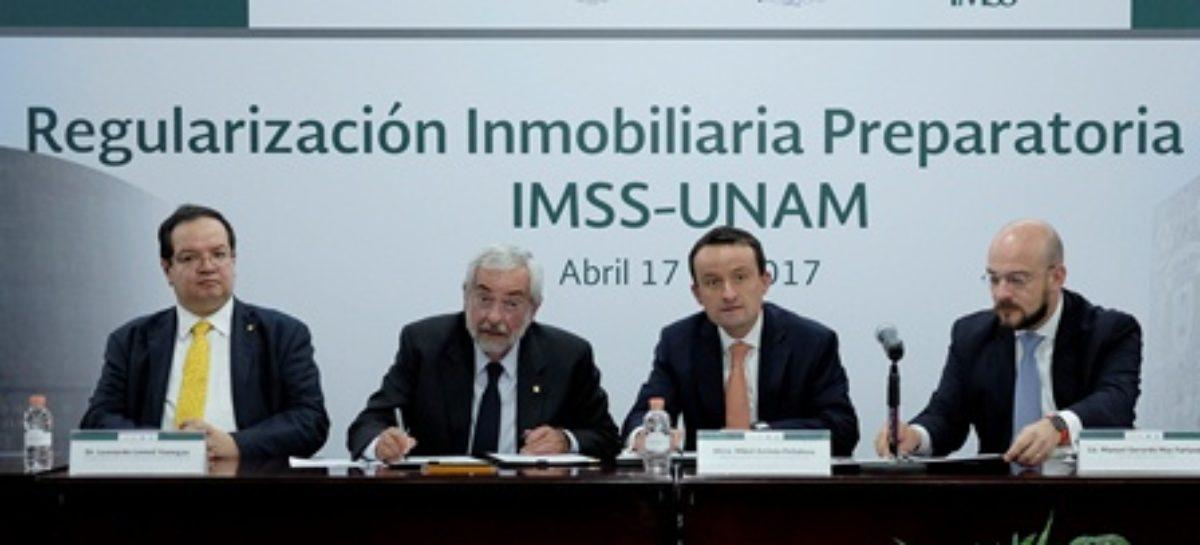 Regularizan el IMSS y la UNAM predio que ocupa la preparatoria 9 desde 1964