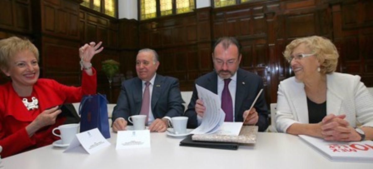 Recibe canciller Luis Videgaray las llaves de la Casa de México en España