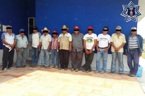 Detenidas 11 personas por presunta extorsión a parque eólico