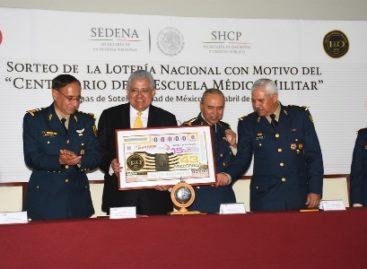 """Enaltece Lotería Nacional """"Centenario de la Escuela Médico Militar"""" con emisión de billete"""