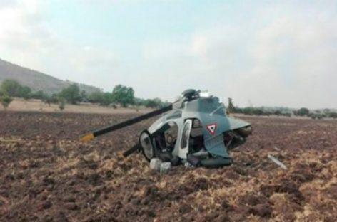 Sufre aeronave militar accidente en el Estado de México; Tripulación ilesa