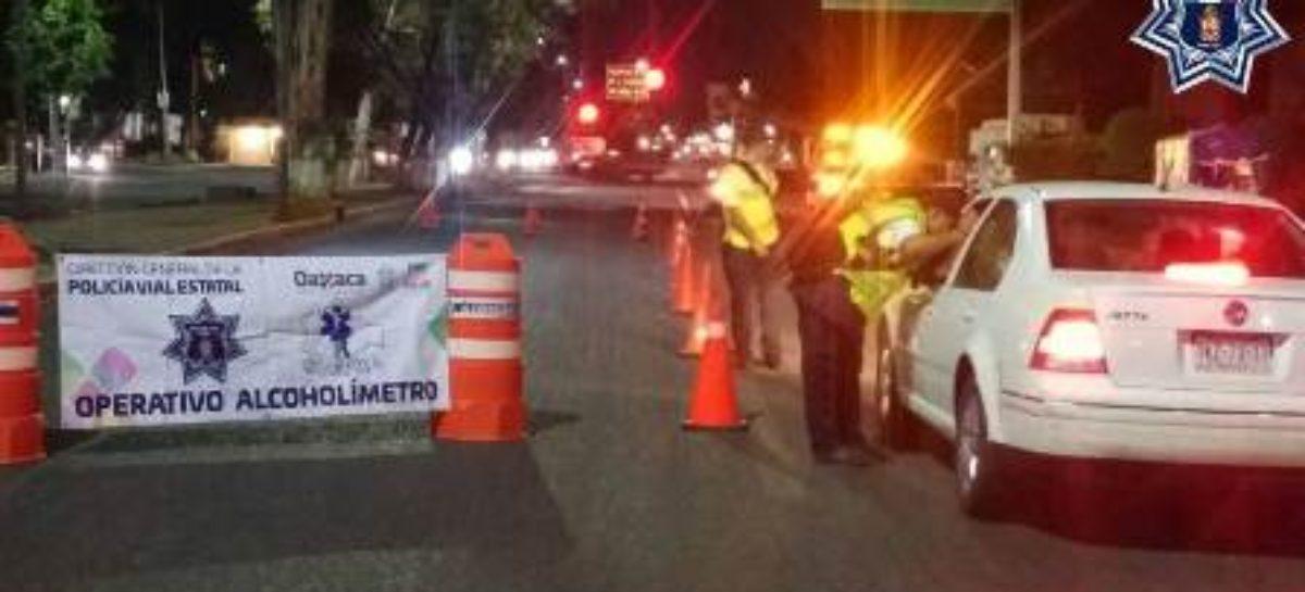Arrestados 18 conductores durante Operativo Alcoholímetro en Oaxaca y Tuxtepec