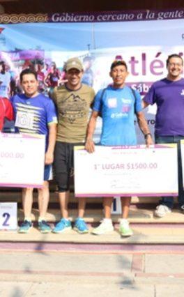 Ganan Javier Hernández y Érika Julián Primera Carrera Atlética Xoxo 8K