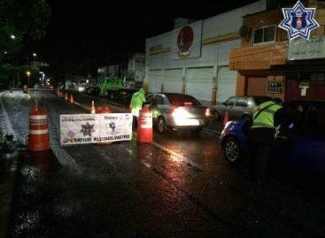 Detiene Policía Vial estatal a seis infractores en el Operativo Alcoholímetro